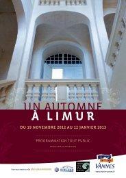 Programme culturel un automne à Limur - Office de Tourisme de ...