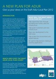 Draft Adur Local Plan leaflet - Loughton, Tim