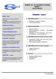 Schedule – week 1 NOMAD 65 / 90 TRAINING COURSE ... - Sercel