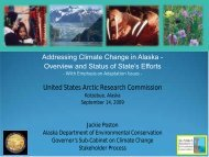 Presentation to the U.S. Arctic Research Commission - Climate ...
