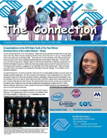 Spring 2010 Connection Newsletter - Boys & Girls Clubs of the East ...