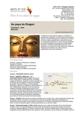 Au pays du Dragon - Arts et Vie