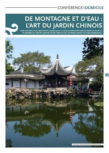 DE MONTAGNE ET D'EAU : L'ART DU JARDIN CHINOIS - Arts et Vie