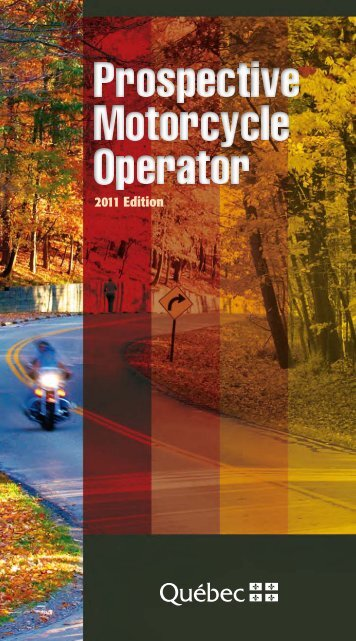 Prospective Motorcycle Operator - Société de l'assurance ...