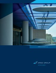 AnnuAl RepoRt 2012 - Argo Group
