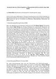 Kurzbericht über die 6. Erfurter Gespräche zur ...