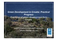 Sandra Vlašić Green Development in Croatia ... - UNDP Croatia