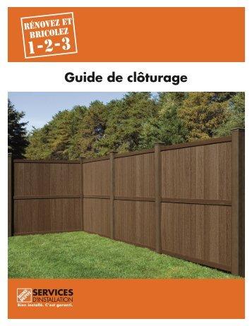 Guide de clôturage - Home Depot