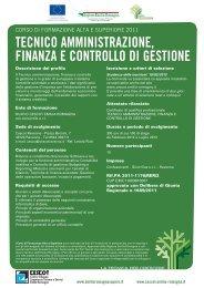 tecnico amministrazione, finanza e controllo di - Nuovo CESCOT ...