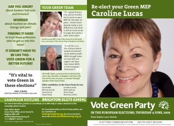 Caroline Lucas - Green Party