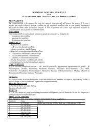 LA GESTIONE DEI CONFLITTI NEL GRUPPO DI LAVORO - Azienda ...