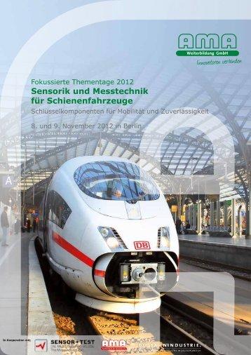 Sensorik und Messtechnik für Schienenfahrzeuge - AMA ...