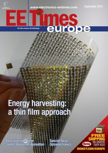 Energy harvesting: a thin film approach - EE Times Europe