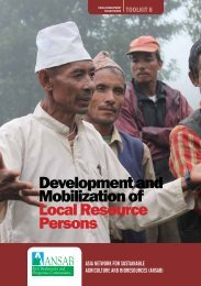 Development and Mobilization of Local Resource Persons
