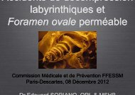Foramen ovale - Commission Médicale et de Prévention Nationale ...