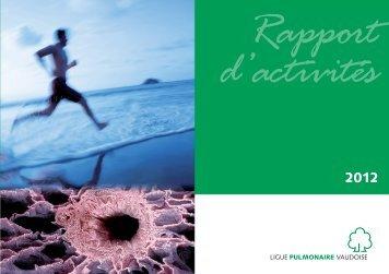Rapport d'activités 2012 - Ligue pulmonaire