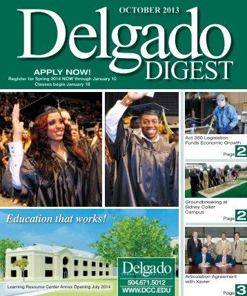 APRIL 2013 - Delgado Community College