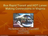 Presentation to the Northern Virginia Transportation Commission