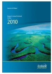 Gabon annual report 2010 - Ecobank
