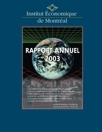 RAPPORT ANNUEL 2003 - IEDM
