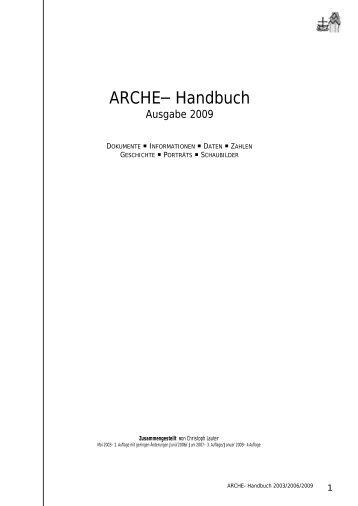 ARCHE– Handbuch - in der ARCHE