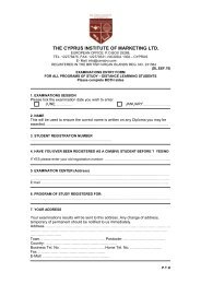 DL. EEF. 70 - The Cyprus Institute of Marketing
