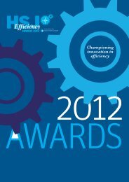 HSJ Efficiency Awards 2012 - Health Service Journal