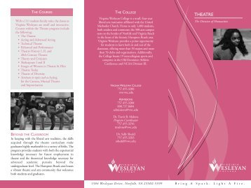 VWC Theatre Brochure - Virginia Wesleyan College