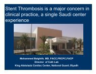 Stent Thrombosis is a major concern in clinical practice a single ...