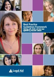 Framework for the best practice guidelines 2012 - Legal Aid ...