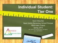 Individual Student: Tier One - MN PBIS