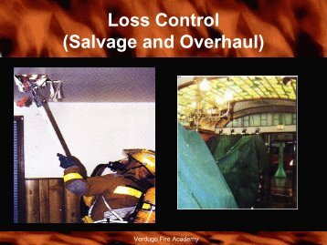 Loss Control (Salvage and Overhaul)