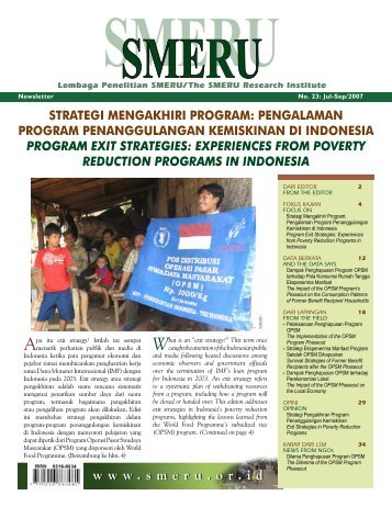 STRATEGI MENGAKHIRI PROGRAM - SMERU Research Institute