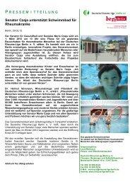 Senator Czaja unterstützt Schwimmbad für Rheumakranke