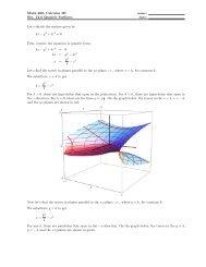 Math 280, Calculus III Sec. 12.6 Quadric Surfaces Let's sketch the ...