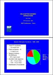 Helicopter seismic operations - OGP activities home
