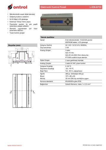 L-ION-EF33 Teknik Katalog