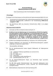 Ausschreibung Bezirksmeisterschaft 2010