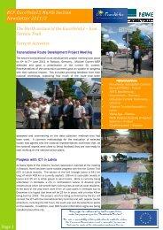 ECF EuroVelo13 North Section Newsletter 2011/3
