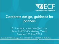 Corporate Design Presentation - EuroVelo