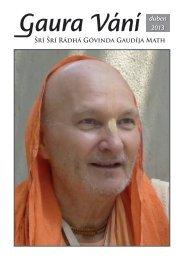 Gaura Vání duben 2013 - Sri Sri Radha Govinda Mandir