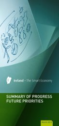 Ireland - The Smart Economy - Summary of Progress, Future Priorities