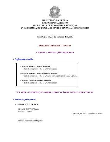 31 Out 99 - 2ª ICFEx - Exército Brasileiro