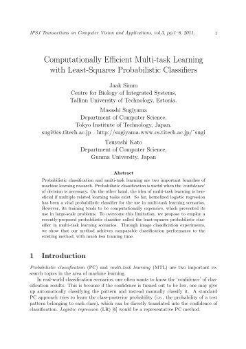 Computationally Efficient Multi-task Learning with ... - ResearchGate