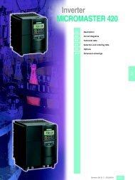 Inverter MICROMASTER 420