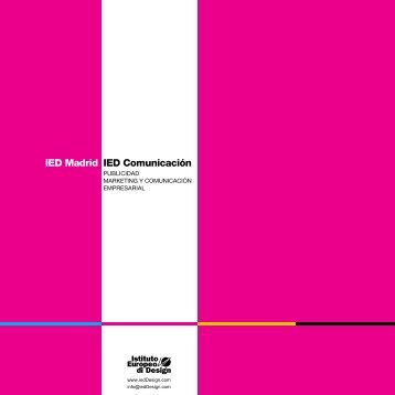 IED Madrid IED Comunicación - IED - Fashion schools and Design ...