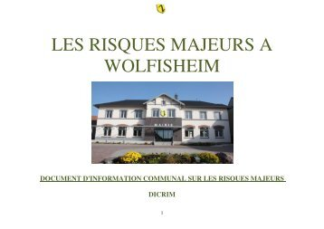 LES RISQUES MAJEURS A WOLFISHEIM