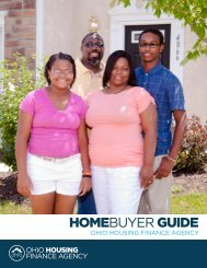 HOMEBUYER GUIDE - Ohio Housing Finance Agency