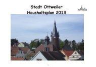 Haushalt 2013 - Ottweiler