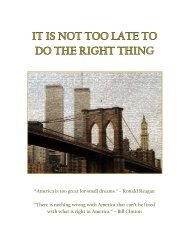 It's Not Too Late - The Twin Towers Alliance